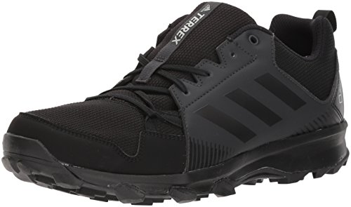 (adidas outdoor Men's Terrex Tracerocker GTX Trail Running Shoe, Black/Carbon, 11 D US)