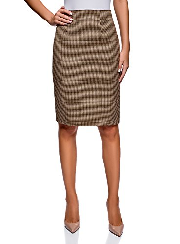 - oodji Collection Women's Basic Pencil Skirt, Beige, 2