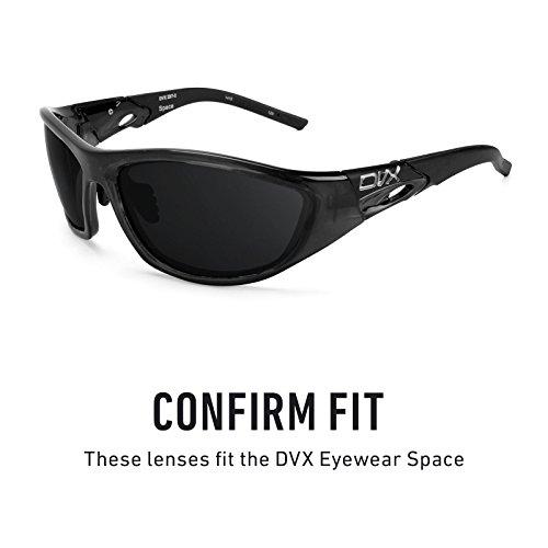 Verres de rechange pour DVX Eyewear Space — Plusieurs options Gris Vert - Polarisés