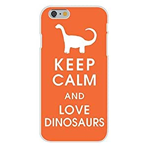 Hu Xiao Apple iPhone 6 Custom case cover White Plastic Snap On - Keep Calm and Love K1iROPwTPUI Dinosaurs Diplodocus