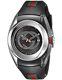 SYNC L Stainless Steel Watch with Black Rubber Band(Model:YA137301)