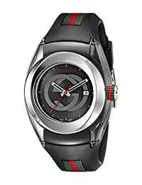 Gucci SYNC L YA137301 Stainless Steel Watch with Black Rubber Band