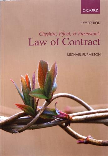 Cheshire Fifoot And Furmston's Law Of Contract