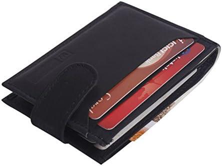 c4b705027bad Super Slim Men's Leather Wallet Credit Card Case Sleeve Card Holder ...