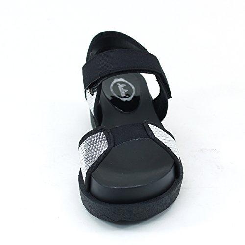 Sandals New Comfort Silver Loop Brieten Sole Sport Hook Casual amp; Womens Thick w6gw7q4v