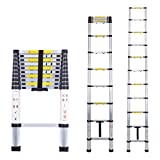 Myifan Telescopic Ladder Multi-Purpose Aluminium Telescoping Ladder Extension Extend Portable Ladder Foldable Ladder EN131Standards (3.2M / 10.5Ft)