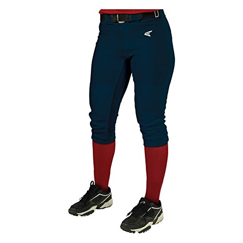 Easton Girls' Mako Pant, Navy, Youth - Youth Navy Blue Softball Pants
