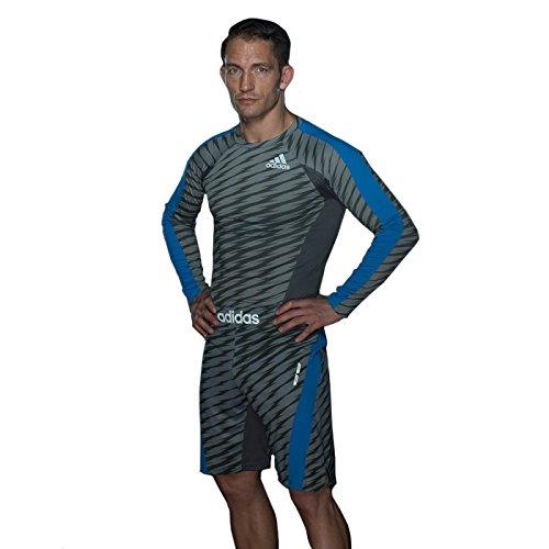 Adidas 'Ultimate' Drawstring MMA Training Shorts - Granite/Beluga/Solar Blue