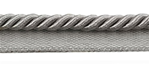 DecoPro 10 Yard Value Pack of Medium 5/16' Basic Trim Lip Cord Style# 0516S Color: Silver Grey - 049 (30 Ft / 9.1 Meters)
