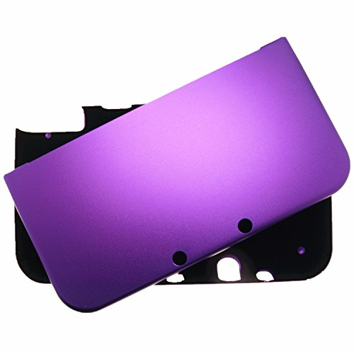 Br   For New Nintendo 3Ds Xl Case Cover Full Aluminum Metal Protector   Free Screen Protectors  Purple