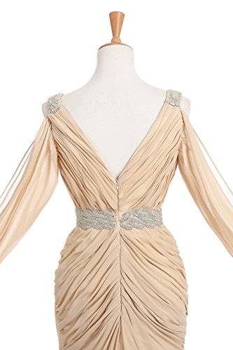 CoCogirls - Vestido - corte imperio - para mujer champán