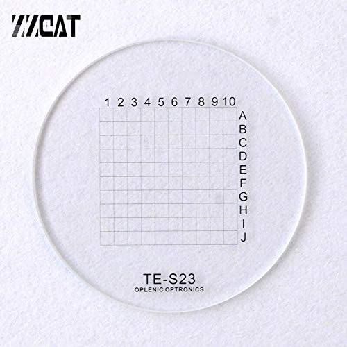Color:Diameter 20.4mm 963 20.4mm Number Letter Net Partition Board Optical Glass Grid Cell Value Scale Micrometer Microscope Eyepiece Micrometer Mercury/_Group