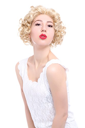 Nuoqi Sexy Gold Marilyn Monroe Sexy Curly Fashion Cosplay Wig