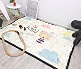 QXMEI Children Crawling Mats Cotton Ice Silk Simple Cartoon Carpet Game Pad