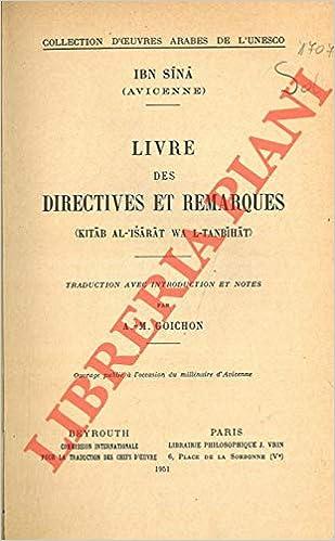 Amazon Fr Livre Des Directives Et Remarques Kitab Al
