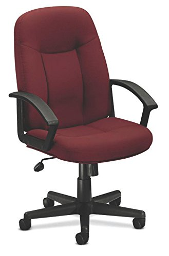 Basyx VL601VA62 VL601 Series Executive High-Back Swivel/Tilt Chair, Burgundy Fabric/Black Frame (Fabric Burgundy Tilt Chair)