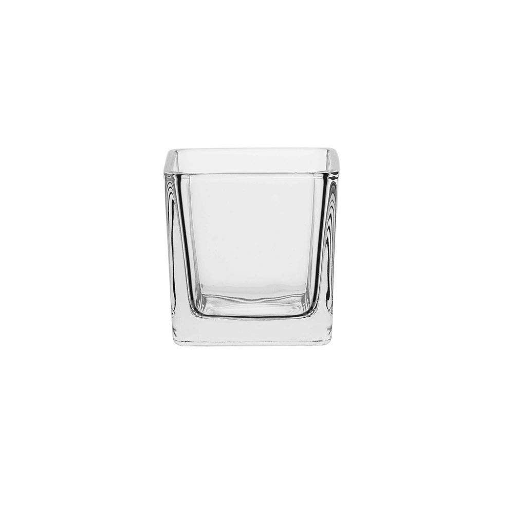 AmazonCommercial Glass Candle Holder, 3.7 oz., Set of 6