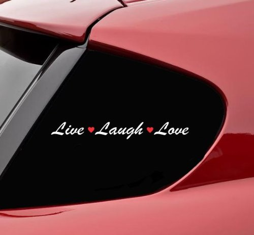 Live Laugh Love vinyl decal bumper sticker car truck cute