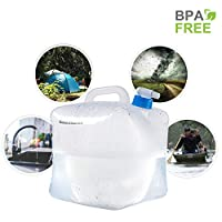 Gowithwind Collapsible Water Container with Spigot,FDA BPA Free Portable Water Carrier,Foldable Water Storage Jug for Outdoor Camping Hiking and Emergency Hurricane Flood Earthquake 1.3/2.6/5.3Gallon
