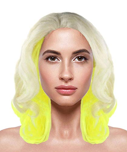 (Halloween Party Online Gaga Two Tone Wig, Yellow Kids)