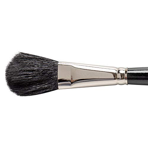 Silver Brush 5619S-034 Silver Mop Short Handle Blender Brush, Black, Oval, 3/4-Inch [並行輸入品] B07V561X45