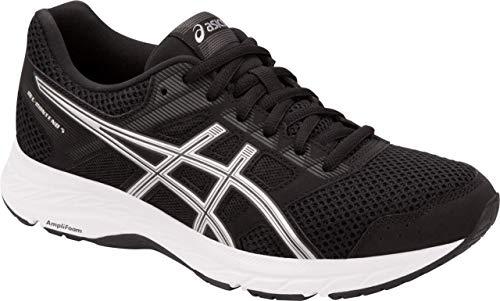 ASICS Gel-Contend 5 Women's Running Shoe, Black/Silver, 8.5 M US