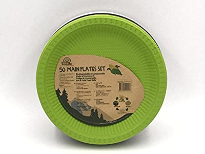 "EcoSouLife Cornstarch - Main Plate 20PC 9"""