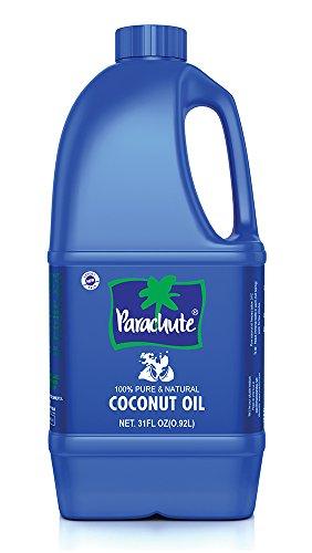 Parachute Coconut Oil 31 fl.oz. (917ml) - 100% Pure, Unrefined, Expeller Pressed Expeller Pressed Coconut Oil