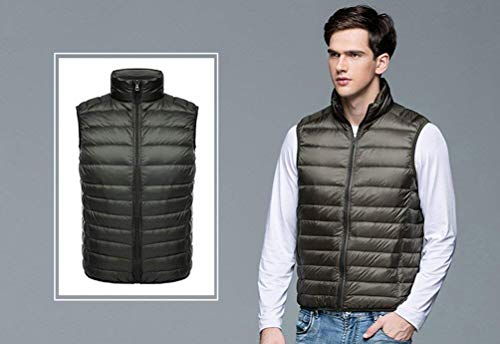 Stand Brands Padded Quilted Warm Collar BOLAWOO Warm Winter Vest Autumn Fashion Sleeveless Armygreen Down Ultra Light Vest Down and Slim Men's Vest Jacket EWqqwxAOav