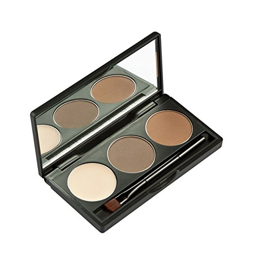 CCbeauty 3 Color Eyebrow Powder with Brush and Mirror Kit Ey