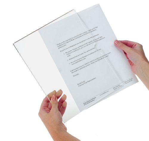 Clearform ML3686 Clear Acrylic Letter Size Page Frame, Adhesive Mount (Pack of 2) by Clearform