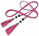 OnIn high waist female leather belt for dress Accessories,160cm,Rose