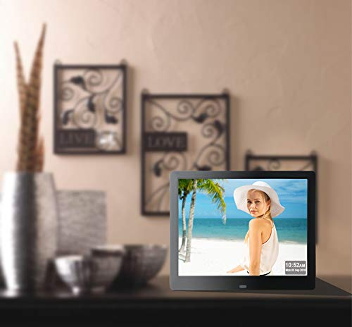 9 Inch Digital Picture Frame 1080P IPS Electronic Photo Frames Full Angle 1280x800 HD Signage USB SD/SDHC for Wedding Birthday Gift- Black by Véfaîî (Image #5)