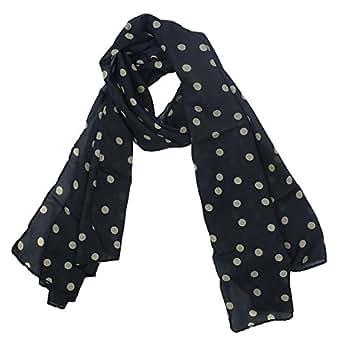 Kobwa(TM) Fashion Charming Beautiful Warm Beige Polka Dot Scarf Shawl,Black with Kobwa's Keyring