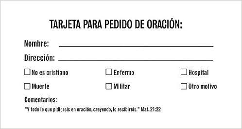 Prayer Request Card: Tarjeta Para Peticion de Oracion ...