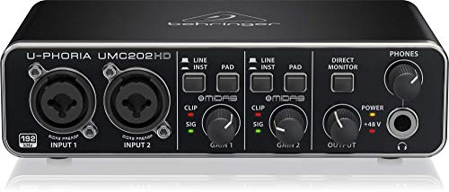 BEHRINGER U-PHORIA UMC202HD, 2-Channel -