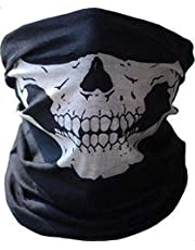 Mask for Bike Riding with Skull Print