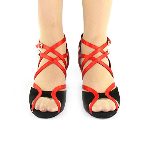 Indoor Heels Sandale Mou WYMNAME de Chaussures Women's Chaussures Fond Rouge de Danse Latine Danse High xxYaZ1nA7