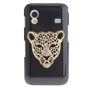 CECT STOCK Hierro leopardo patrón plástico Negro de nuevo caso duro para Samsung Galaxy Ace S5830 , Color Plata