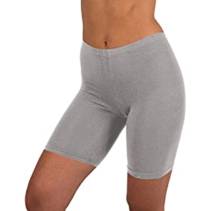 Womens 3 Pack Active Dance Running Yoga Bike - Boy Short Boxer Briefs (M/6, 3 PK - BLACK/HEATHER GRAY/NAVY)