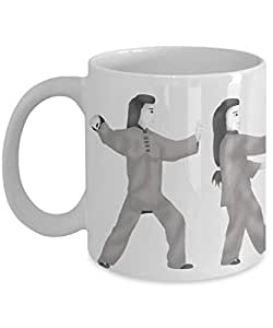 Tai Chi exercise 24 form illustrations 11 thru 15 coffee mug