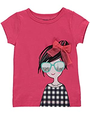 Carters Baby Clothing Outfit Girls Cute Paris Girl Tee Pink T-shirt