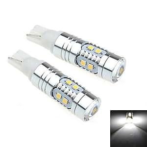 GD 2pcs t10 5w 10x2323 SMD 800lm 6000k LED de luz blanca para la lámpara de vuelta del coche de dirección (dc 12-25v)