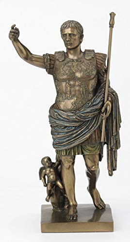 Resin Statues Augustus Of Prima Porta Bronze Finish Augustus Caesar Statue 12 Inch 5.75 X 11.5 X 5 Inches Bronze