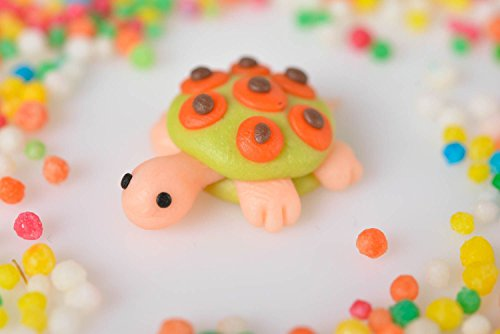 Handmade Polymer Clay Figurine Unique Designer Stylish Interior Turtle Toy ()