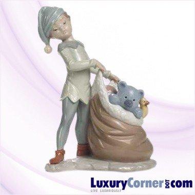 Lladro Figurine, 6894 Santa's Sack of Dreams