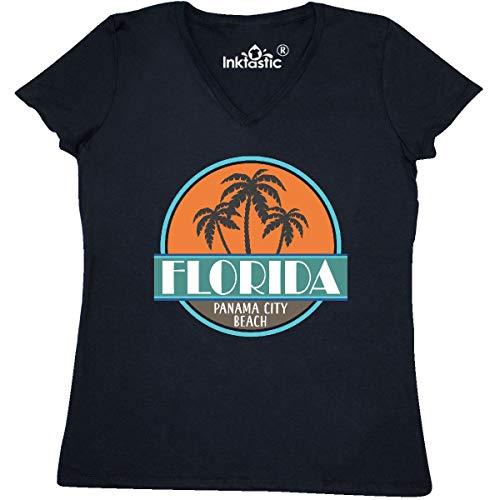 inktastic - Panama City Beach Women's V-Neck T-Shirt XX-Large Black 31f36