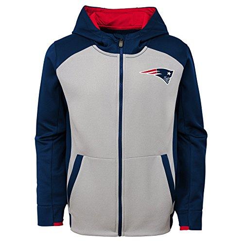 - Outerstuff NFL New England Patriots Kids & Youth Boys Hi Tech Performance Full Zip Hoodie, Dark Navy, Kids Medium(5-6)