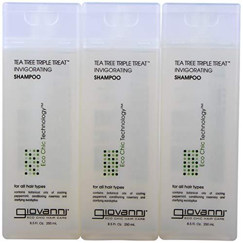 Giovanni Invigorating Shampoo, Tea Tree Triple Treat, 8.5-Ou