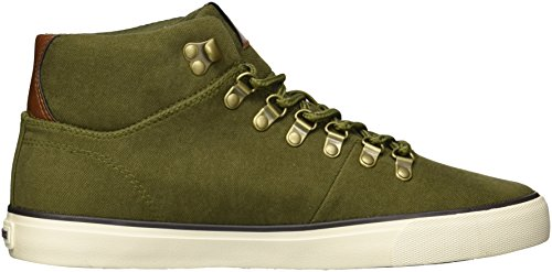 Marc New York De Andrew Marc Hombre Brownsville Mid Sneaker Fatiga / Hueso / Corteza / Castaño